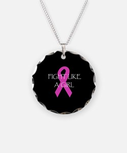 Breast Cancer Awareness Fight Like A Girl Necklace