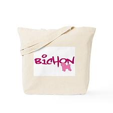 "Bichon Frise ""Pink"" Tote Bag"