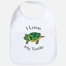 I Love my Turtle Bib
