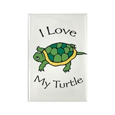 I Love my Turtle Rectangle Magnet