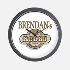 Brendan's Rodeo Personalized Wall Clock
