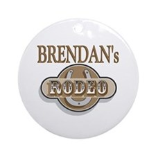 Brendan's Rodeo Personalized Ornament (Round)