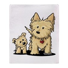 Cairn Mom & Puppy Throw Blanket