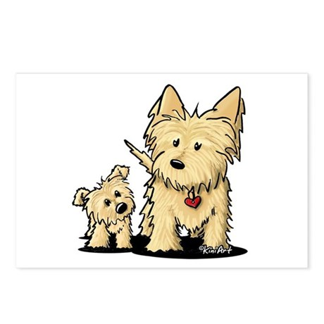 Cairn Mom & Puppy Postcards (Package of 8)