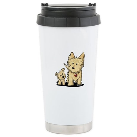 Cairn Mom & Puppy Stainless Steel Travel Mug