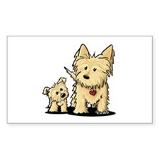 Cairn Mom & Puppy Decal