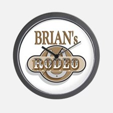 Brian's Rodeo Personalized Wall Clock