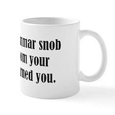 Grammar Snob Small Mugs