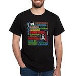Survivor - Mesothelioma Dark T-Shirt