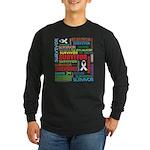 Survivor - Mesothelioma Long Sleeve Dark T-Shirt