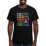 Survivor - Mesothelioma Men's Fitted T-Shirt (dark