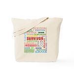 Survivor - Mesothelioma Tote Bag
