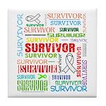 Survivor - Mesothelioma Tile Coaster