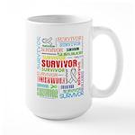 Survivor - Mesothelioma Large Mug