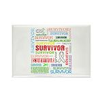 Survivor - Mesothelioma Rectangle Magnet (100 pack