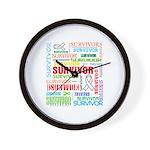 Survivor - Mesothelioma Wall Clock