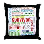 Survivor - Mesothelioma Throw Pillow