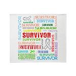 Survivor - Mesothelioma Throw Blanket