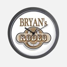 Bryan's Rodeo Personalized Wall Clock