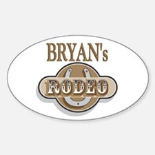 Bryan's Rodeo Personalized Oval Decal