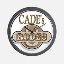 Cade's Rodeo Personalized Wall Clock