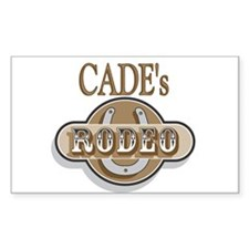 Cade's Rodeo Personalized Rectangle Decal