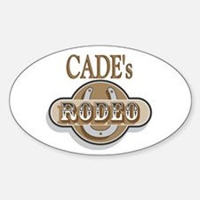 Cade's Rodeo Personalized Oval Decal