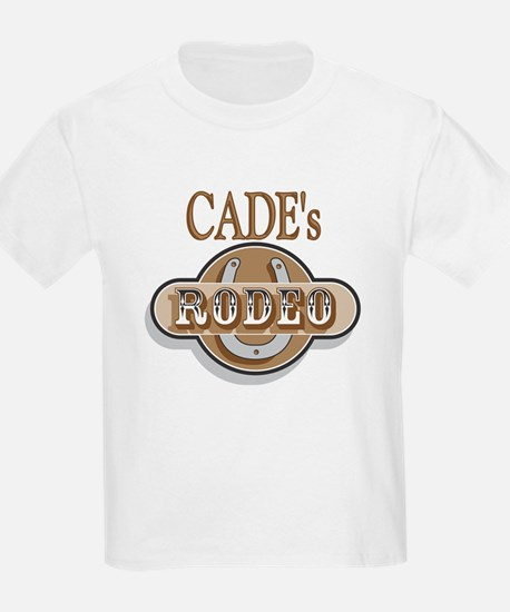 Cade's Rodeo Personalized Kids T-Shirt