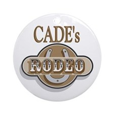 Cade's Rodeo Personalized Ornament (Round)