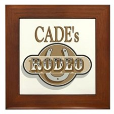 Cade's Rodeo Personalized Framed Tile