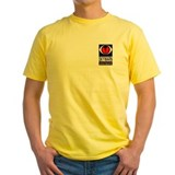 Weather channel storm chaser Mens Yellow T-shirts