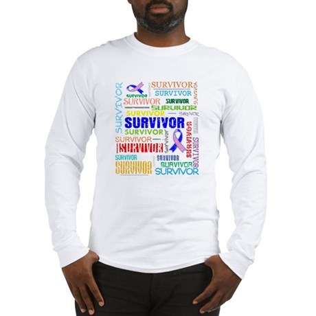Survivor Male Breast Cancer Long Sleeve T-Shirt