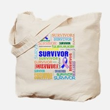 Survivor Male Breast Cancer Tote Bag