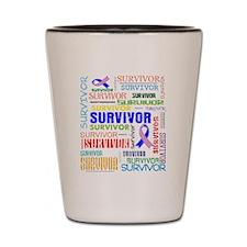 Survivor Male Breast Cancer Shot Glass