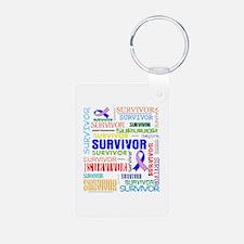 Survivor Male Breast Cancer Keychains
