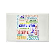 Survivor Male Breast Cancer Rectangle Magnet