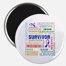 """Survivor Male Breast Cancer 2.25"""" Magnet (100 pack"""
