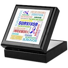Survivor Male Breast Cancer Keepsake Box