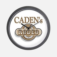 Caden's Rodeo Personalized Wall Clock