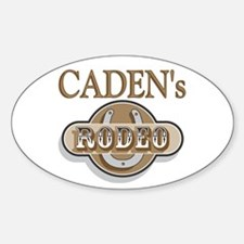 Caden's Rodeo Personalized Oval Decal