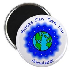 """Books Can Take You 2.25"""" Magnet (100 pack)"""