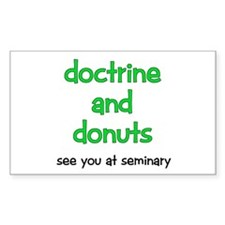 LDS Seminary Donuts Rectangle Decal