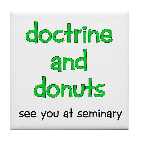 LDS Seminary Donuts Tile Coaster