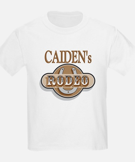 Caiden's Rodeo Personalized Kids T-Shirt