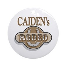 Caiden's Rodeo Personalized Ornament (Round)
