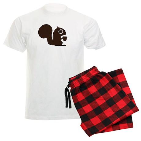 Squirrel with Nut Men's Light Pajamas