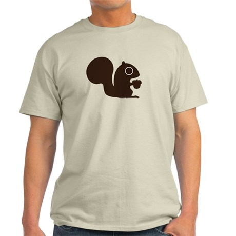 Squirrel with Nut Light T-Shirt