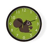Squirrel Wall Clocks
