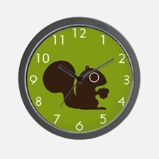 Squirrel with Nut Wall Clock