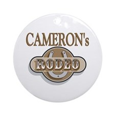 Cameron's Rodeo Personalized Ornament (Round)